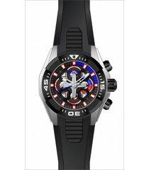 reloj invicta 30318 negro silicona unisex