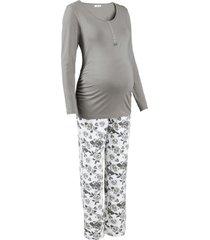 pigiama per l''allattamento in cotone biologico (grigio) - bpc bonprix collection - nice size
