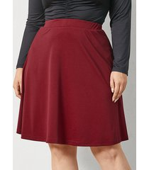 falda con tira elástica de talla grande yoins basics