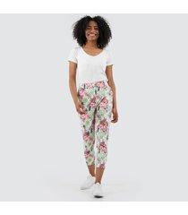 pantalón para mujer para mujer floral