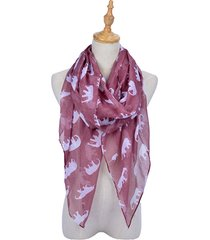 180cm donne donne vintage voile elephant stampa modello sciarpa lunga sciarpa wrap avvolgente