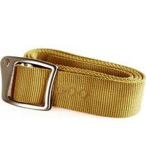 cinturon nylon buckle aluminio mostaza lippi