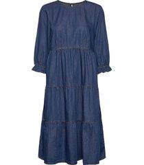 crmaj denim dress knälång klänning blå cream