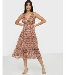 vila viana s/l midi dress/dc loose fit dresses
