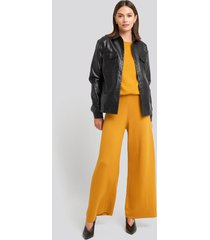 na-kd lounge wide leg pants - yellow