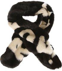 ermanno scervino fur applique scarf