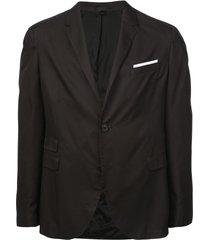 neil barrett blazer com bolsos - preto