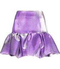 area puffball mini skirt - purple