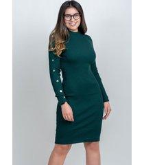 vestido manga larga verde 609 seisceronueve