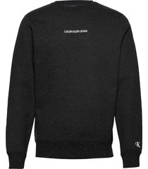 naps regular crew neck sweat-shirt trui zwart calvin klein jeans