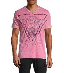 projek raw men's graphic cotton t-shirt - navy - size s