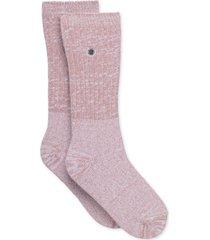 calcetín rib knit slouchy crew rosa ugg