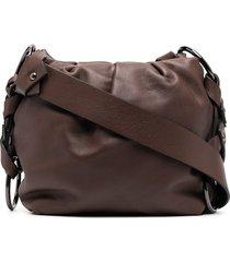 dorothee schumacher ruched pouch shoulder bag - brown
