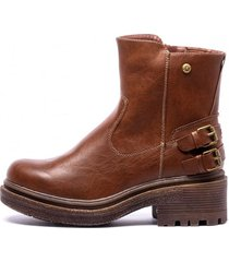 botin sofia brown chancleta