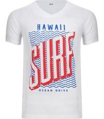 camiseta hombre hawaii color blanco, talla xl