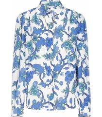 givenchy chain-detail floral print silk shirt