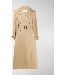 valentino belted midi trench coat