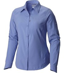 camisa mujer  silver ridge ml violeta  columbia