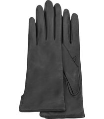 forzieri designer women's gloves, women's black cashmere lined italian leather gloves
