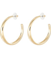 polished gold hoop earrings