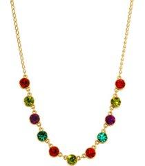 2028 women's gold tone multi color necklace