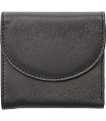 royce leather women's rfid blocking compact leather wallet - red
