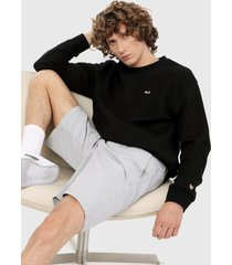 buzo negro tommy jeans