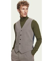 scotch & soda klassiek gestructureerd gilet