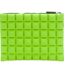 no ka' oi chocolate bar quilted pouch - green