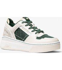 mk sneaker lexi in materiale misto - muschio (verde) - michael kors