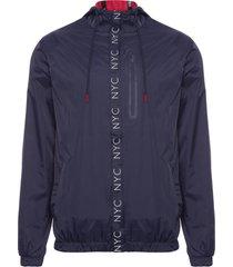 jaqueta masculina simple sign - azul