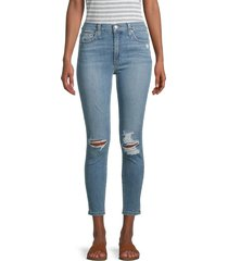 joe's jeans women's high-rise distressed cropped skinny jeans - melun - size 24 (0)