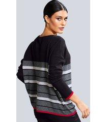 tröja alba moda svart::röd::grå
