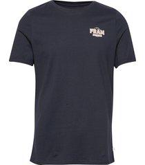washout tee t-shirts short-sleeved blå fram