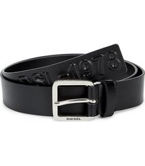 diesel men's imprinted adjustable belt - black - size 100 (40)