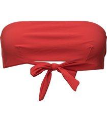 bandeau bikini top bikinitop röd filippa k soft sport