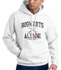 hogwarts alumni galaxy potter unisex hoodie white