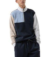 men's rodd & gunn wnwn colorblock quarter zip sweatshirt, size xxx-large r - red