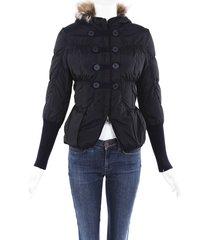 brunello cucinelli fur hooded puffer coat