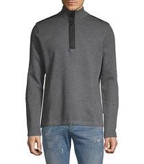 heathered cotton-blend sweatshirt