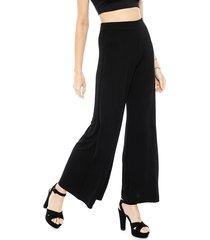 pantalón pippa retro negro - calce holgado