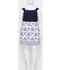 loft loft plus floral embroidered shift skirt
