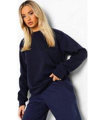 basic oversized sweater, navy
