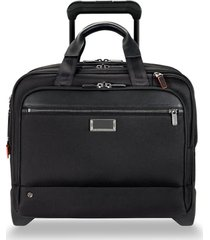 men's briggs & riley @work 15-inch medium expandable wheeled briefcase -
