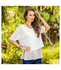 chiffon blouse, 'beautiful day in off-white' (thailand)