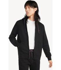 tommy hilfiger men's essential zip hoodie black - s