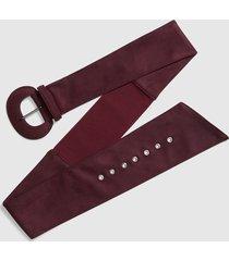 lane bryant women's stretch sash belt - faux suede 22/24 winetasting