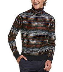 paisley & gray slim fit turtleneck sweater navy multi stripe