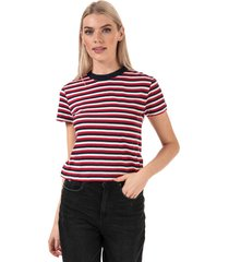 womens organic cotton fitted stripe t-shirt