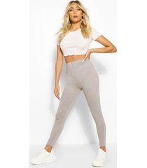 basic high waist ankle grazer legging, grey